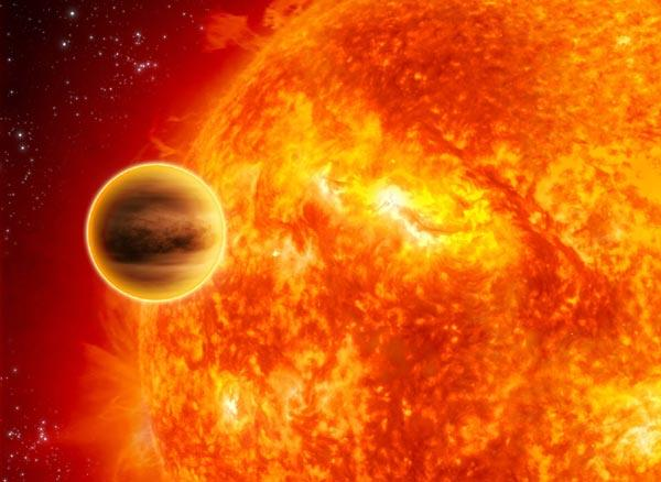 Artistic impression of a 'hot Jupiter'