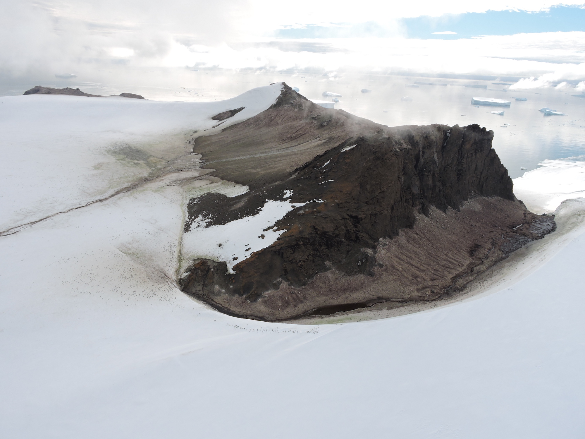 An ice-free area in Marie Byrd Land, West Antarctica