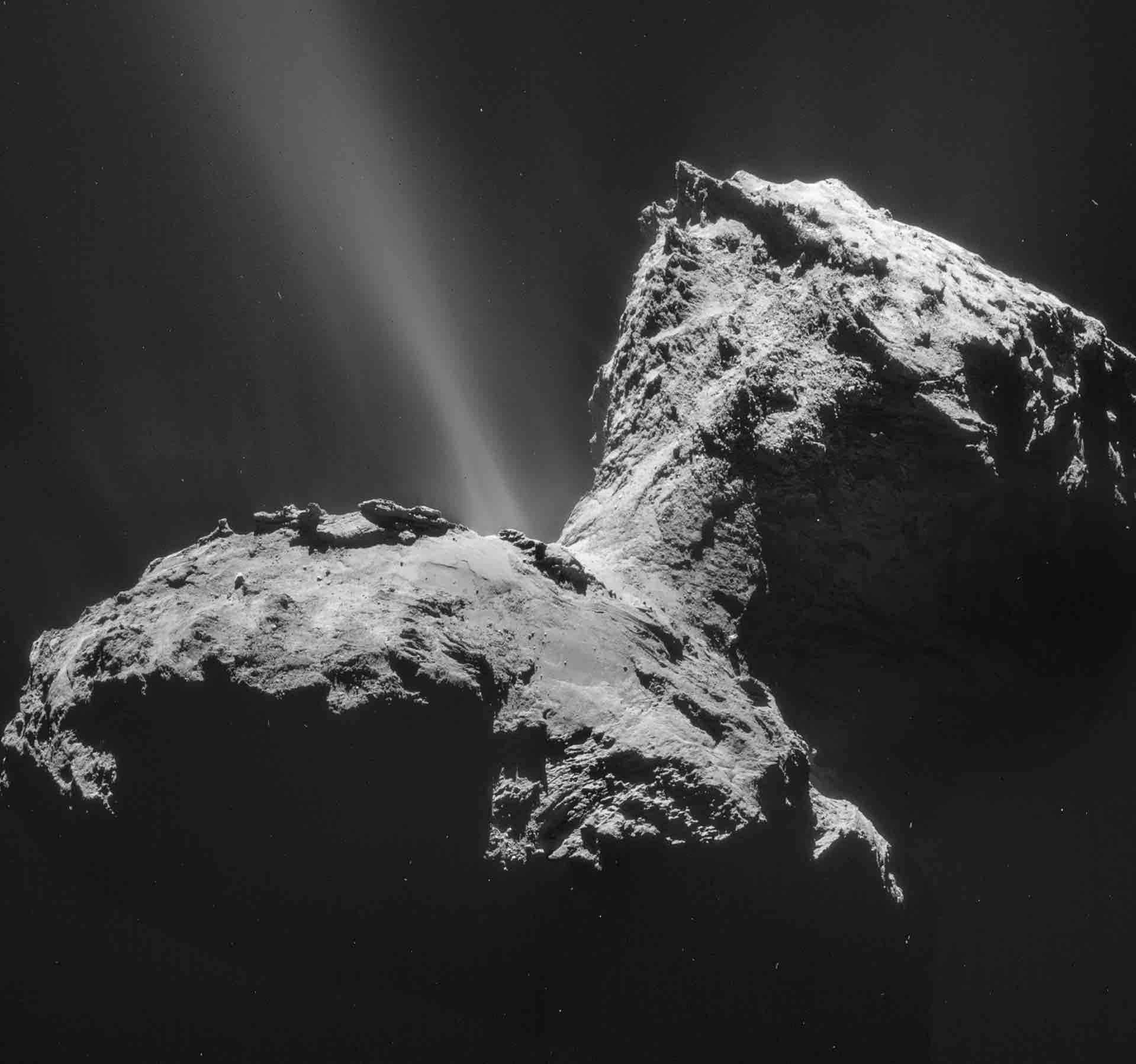The surface of comet 67P/Churyumov-Gerasimenko photographed by the Rosetta spacecraft