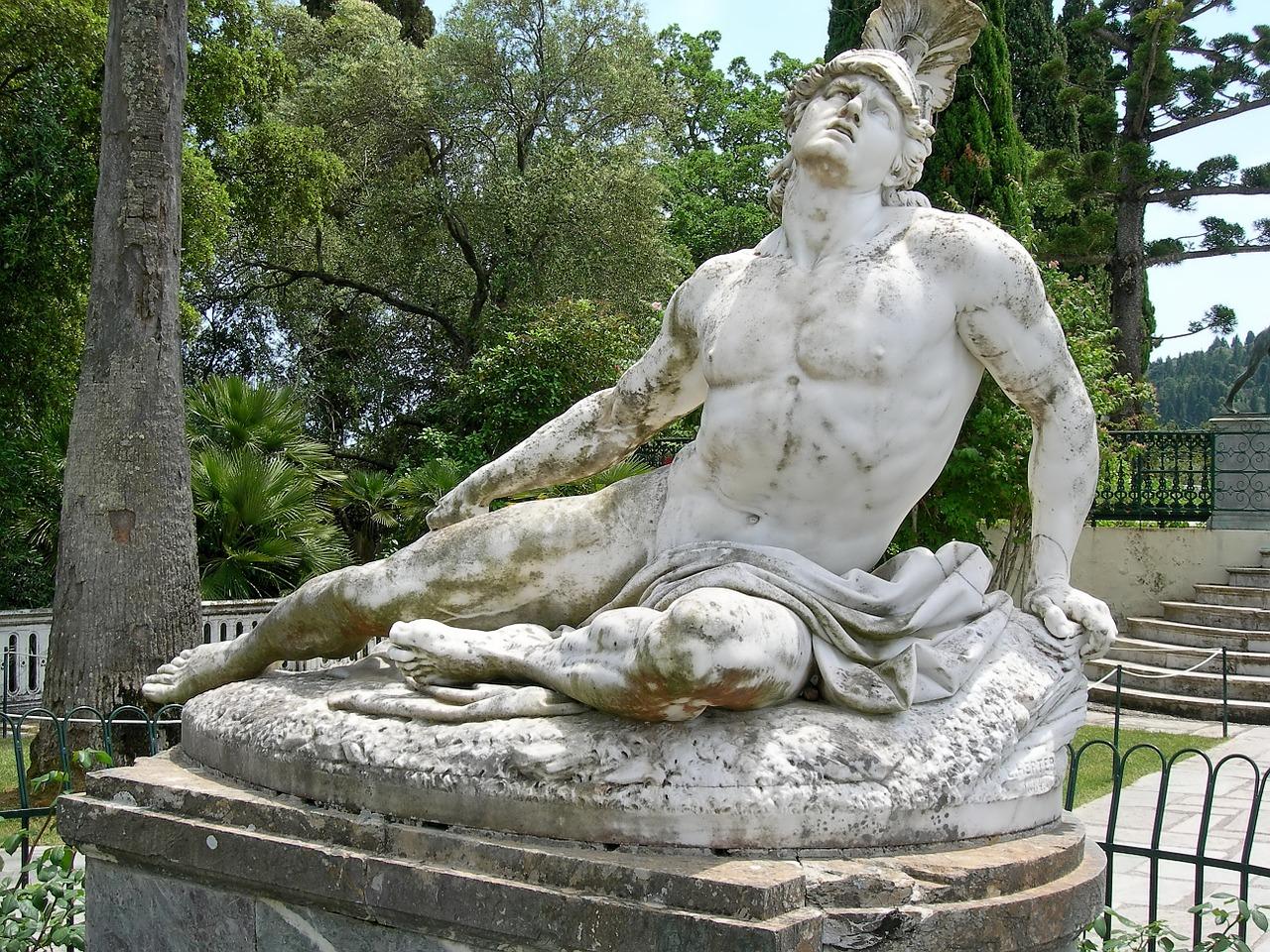 Achilleas Thniskon (Dying Achilles), Corfu Achilleion.