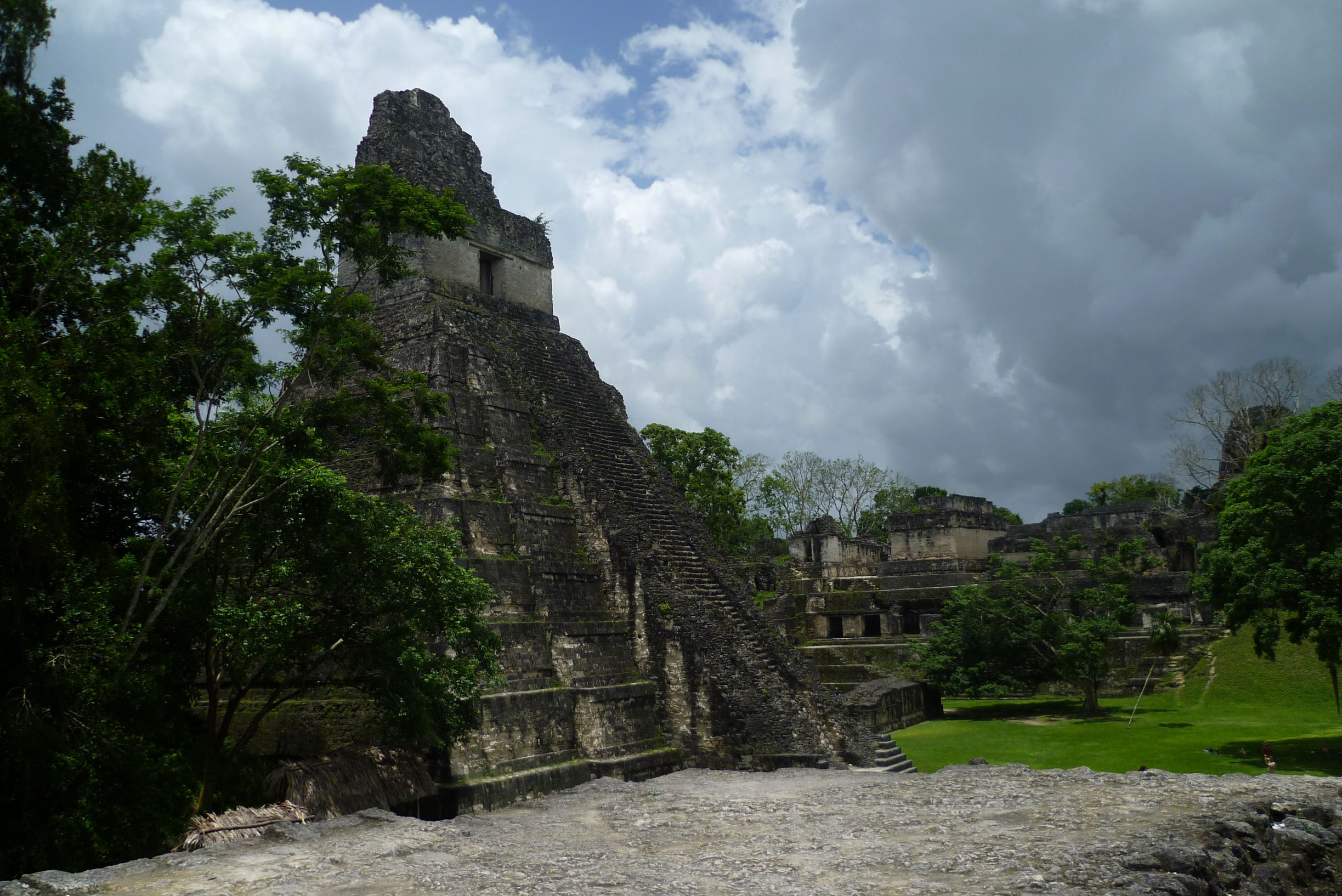 Ruins of a Maya city in Tikal, Guatemala